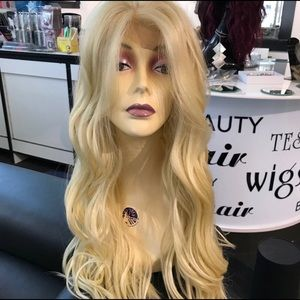 Accessories - Long Blonde Wig 13X6 freepart swisslace Wavy 613